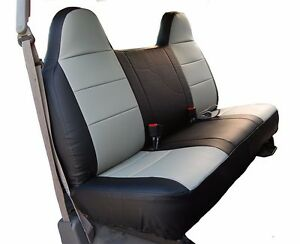 Ford F 150 Black Grey Iggee S Leather Custom Fit Bench Front Seat Cover