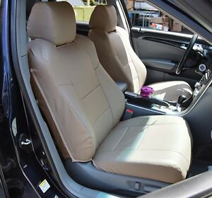 Acura Tl 2004 2008 Beige S leather Custom Made Fit Front Seat Cover
