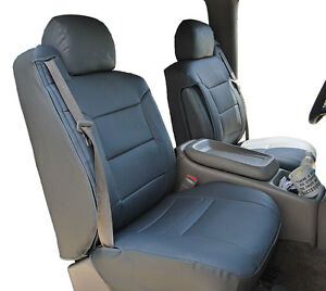 Chevy Silverado 2000 02 Charcoal S leather Custom Made Front Seat 2arm Covers