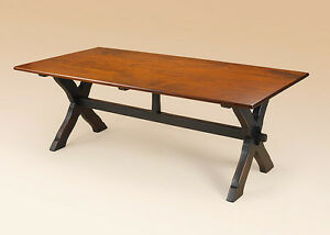Primitive Saw Buck Kitchen Table 7ft Long Wooden Country Style Furniture Quality