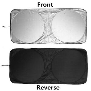 Universal Folding Windshield Cover Uv Block Car Sun Shade Cooling Visor 150x70cm