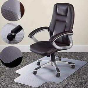 Hot 36 x48 chair Pvc Floor Mat Home Office Studded Back With Lip For Pile Carpet