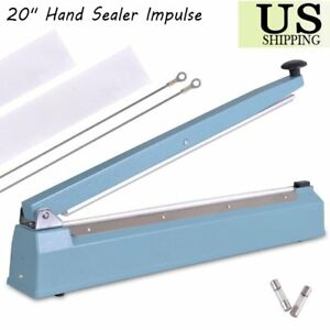 20 500mm Hand Sealer Impulse Heat Manual Seal Machine Plastic Poly Bag Sealer