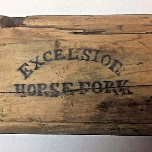 Palmer Patented Excelsior Horse Fork Wood 1868 Antique Farm Equipment Albany Ny