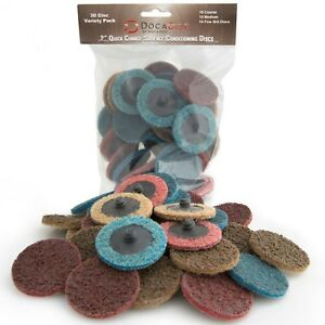 30 Pack Of Docadisc 2 Inch Roloc Quick change Surface Conditioning Discs 2