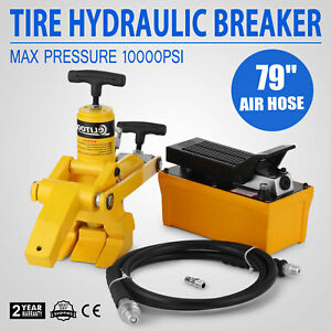 Tractor Truck Hydraulic Bead Breaker Tire Changer Airhose W 10000psi Tools