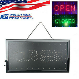 9 8 20 47 2in1 Open closed Led Sign Store Shop Display Neon Light 2 5 Day Ship