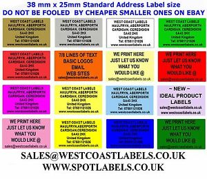 Coloured Personalised Address Labels Sender Security Craft Return Stickers