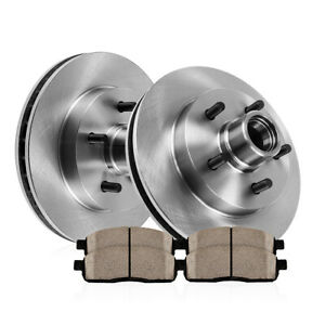 Front 308 Mm Brake Disc Rotors And Ceramic Pads 1997 1998 1999 Ford F150 2wd Rwd