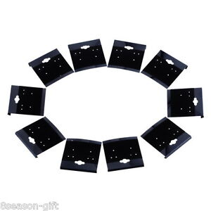Hot 500x Black Plain Hanging Earring Cards With Lip Jewelry Display Hang