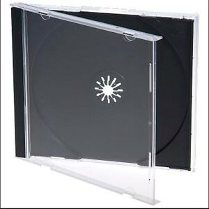 100 Pcs Black New Single Standard Dvd cd 10 2mm Jewel Case