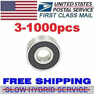 Lot 1 1000pcs Ball Bearing Dual Rubber Sealed Deep Groove Fidget Spinner 608 2rs