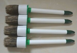 4 Pcs Tire Swab Brush Paste Applicator Lube Wood Handle Tire Changer Hunter