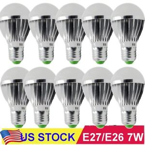10pcs Ultra Bright 7w 12v E27 Home Led Energy Saving Bulb Lights 6000k White Bt
