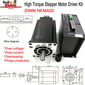 Scc 20nm Nema52 3phase High Torque Stepper Motor Drive Kit For Cnc Engraving