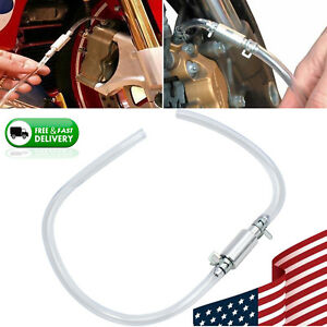 Motorcycle Brake Bleeder Tool Kit With Rubber Tubing Clutch Hose Little Bleed