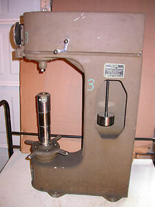 Clark Hardness Tester Model C 12 A Machine Shop Fabricate Rockwell Test Metal