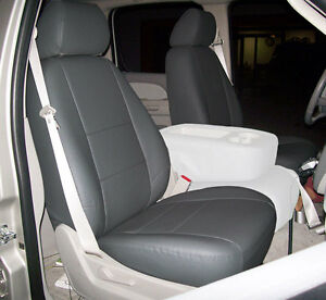 Chevy Silverado 2007 2013 Charcoal Iggee S Leather Custom Front Seat Cover