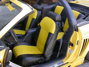 Ford Mustang 1987 1993 Iggee S Leather Custom Fit Seat Cover 13colors Available