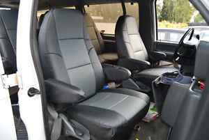 Ford E series Van 1998 2014 Iggee S leather Custom Fit Seat Cover 13 Colors