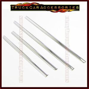 For Chevy Tahoe 2007 2009 2010 2011 2012 2013 2014 Chrome Steel Window Sills 4pc