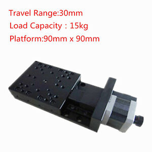 X axis 5 pulse 15kg Bearing 30mm Travel Motorized Linear Stages For Microscope