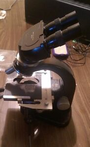 Leitz Wetzlar Laborlux Binocular Microscope With Extra Bulbs Circa 1958