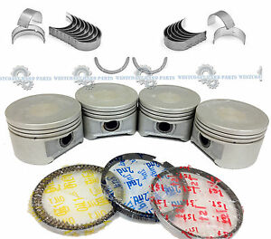 01 05 Honda Civic 1 7l D17a2 D17a6 Engine Pistons And Rings Main Rod Bearings