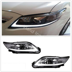 2010 2011 Toyota Camry Headlights Black Housing Led Drl Head Lamp Custom