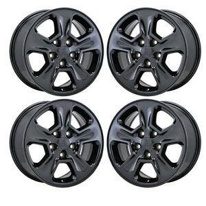 17 Jeep Grand Cherokee Black Chrome Wheels Rims Factory Oem Set 4 9135 Exchange