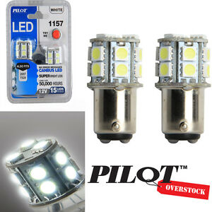 Pilot Automotive 1157 White Led Light Bulbs Pack Of 8 Us Seller With Warranty