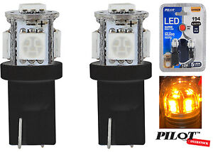 Pilot Automotive 194 Amber Led Light Bulbs Pack Of 2 Us Seller Fast Shipping