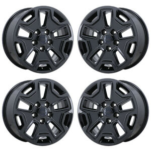 17 Jeep Wrangler Black Chrome Wheels Rims Factory Oem 2018 Set 4 9118 Exchange