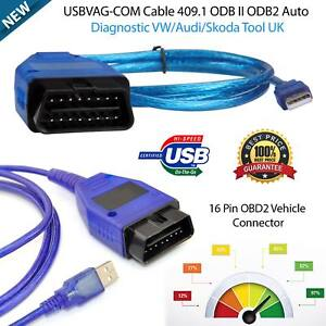 Vag Com Vcds Usb Cable Kkl 409 1 Car Diagnostic Scanner Obd2 Tool For Audi Vw