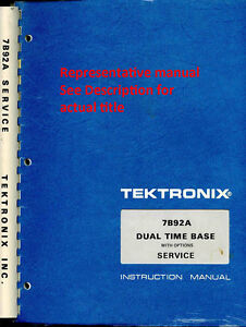 Original Tektronix Instruction Manual For The Dc505a Universal Counter timer