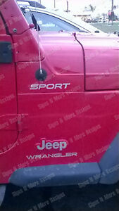 Replacement Decal For Jeep Wrangler Sport Sticker Full Set Fits On Fender Tj Tjl