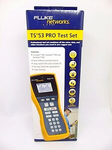 Fluke Networks Ts 53 Pro Test Set Ts53 a 09 Abn With Piercing Pin