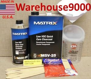 Gallon Msv 25 Low Voc Quick Cure Urethane Clearcoat W 1 Quart Mhv 25 Hardener