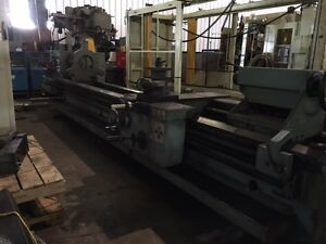 Tos 33 X 196 Engine Lathe Swing Over Bed 33 Spindle Hole 3 5 8 Mo sus 80