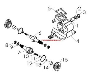 Oliver 550 55 Tractor Steering Box Housing 101062as