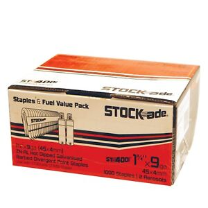 Stock ade St 400i Cordless Staples 1 3 4 Box Of 1000 W 2 Fuel Cells