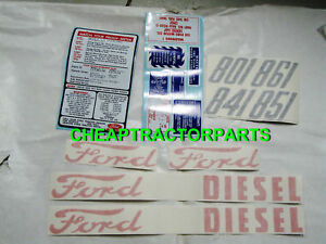 801 Ford Tractor Complete Diesel Decal Set 801 841 851 861 Ford Tractor