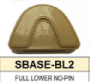 S Base Denture Model Full Lower With No Pins