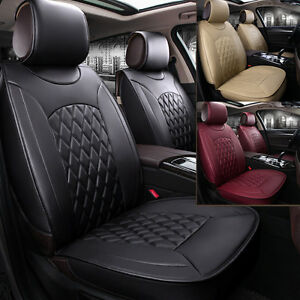 Universal 5 seats Car Interior Seat Covers Chair Cushion 3 Colors Pu Leather Udw
