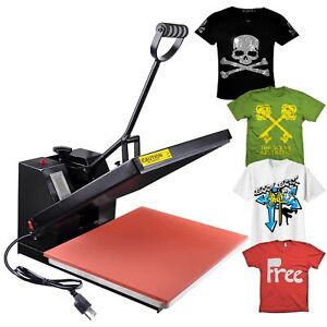 16x20 High Pressure Heat Press Machine Sublimation Transfer Printing Lcd Timer