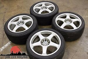 Enkei Rc5 Staggered 17x8 9 Offset 35 Rare Jdm Wheels
