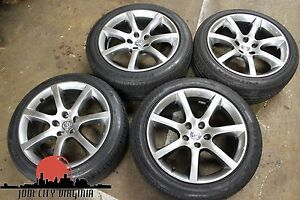 Nissan Jdm G35 18in Staggered Black Crome Wheels Mint Rare 5x114 3