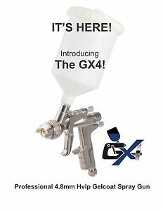 The Gelcoater Gx4 Hvlp Gelcoat And Resin Spray Gun With 4 8mm Nozzle Esg660
