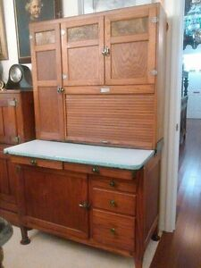 Antique Oak Hoosier Style Cabinet
