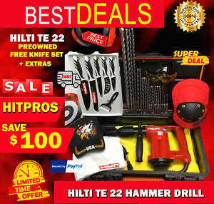 Hilti Te 22 Hammer Drill L k Preowned Free Knife Set Extras Fast Ship